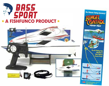 Including everything for fishing fun, The Bass Sport Rc Fishing Boat