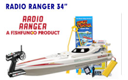 The 34inch Radio Ranger Rc Fishing Boat, our most popular