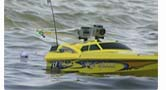 The Ultimate Rc Fishing Boat has two GoPro Cameras mounted for capturing the fishing action