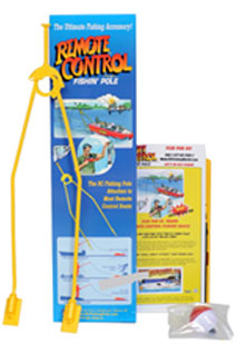 The Rc Fishing Pole with easy instructions install in seconds, everything included